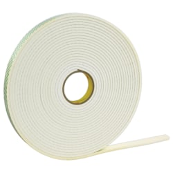 "3M™ Double Sided Foam Tape, 0.75"" x 72 Yd., Off-White, Case Of 12"
