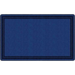 "Flagship Carpets Double-Border Rectangular Rug, 90"" x 144"", Dark Blue"
