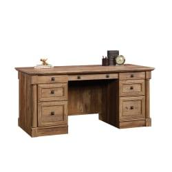 Sauder® Palladia Executive Desk, Vintage Oak