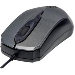 Manhattan Edge Optical USB Mouse - Optical - Cable - Black, Gray - USB - 1000 dpi - Scroll Wheel - 3 Button(s) - Symmetrical