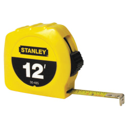 Stanley® Bostitch Thumb Latch Lock Measuring Tape, 12'