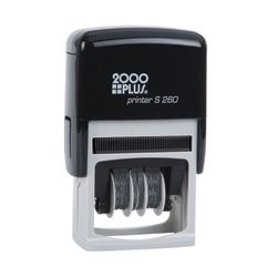 """2000 PLUS® Date 4 Message Dater Stamp Self-Inking Date 4-in-1 Message Dater Stamp, Received, Entered, Paid, Faxed, 15/16"""" x 1-3/4"""", Blue and Red Ink"""