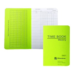"""ACCO® / Wilson Jones® Foreman's Pocket-Size Time Book, 1 Page Per Week, 6.75"""" x 4.12"""""""