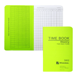 """ACCO® / Wilson Jones® Foreman's Pocket-Size Time Book, 2 Pages Per Week, 6.75"""" x 4.12"""""""