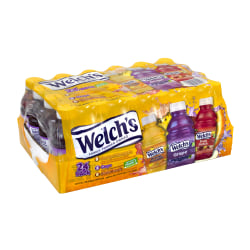 Welch's Juice, 10 Oz, Assorted Flavors, Pack Of 24 Bottles