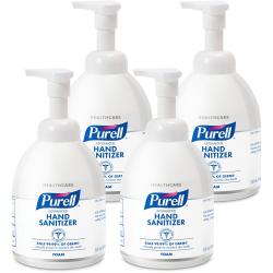 PURELL® Advanced Instant Hand Sanitizer Foam - 18.1 fl oz (535 mL) - Pump Bottle Dispenser - Kill Germs - Hand, Skin - Clear - Chemical-free, Moisturizing, Non-aerosol - 4 / Carton