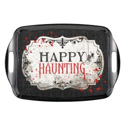 "Amscan Melamine Halloween Happy Haunting Trays, 14"" x 20-1/4"", Black, Pack Of 2 Trays"