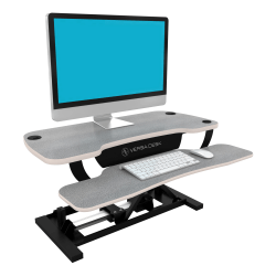VersaDesk Power Pro Sit-To-Stand Height-Adjustable Electric Desk Riser, Gray