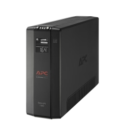 APC® Back-UPS® Pro BX Compact Tower Uninterruptible Power Supply, 10 Outlets, 1,500VA/900 Watts, BX1500M