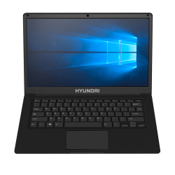 "Hyundai Thinnote Laptop,14.1"" Screen, Intel® Celeron, 4GB Memory, 64 eMMc Storage, Windows® 10, Black"