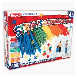 "Roylco Straws And Connectors™, 8"" x 25"", Pre-K - Grade 3, Pack Of 400"
