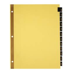 Office Depot® Brand Preprinted Tab Dividers, Monthly