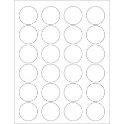 "Office Depot® Brand Inkjet/Laser Labels, LL144, Round, 1 5/8"", White, Case Of 2,400"