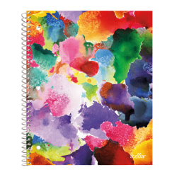 """Office Depot® Brand Stellar Poly Notebook, 8-1/2"""" x 11"""", 1 Subject, College Ruled, 160 Pages (80 Sheets), Sponge Paint"""
