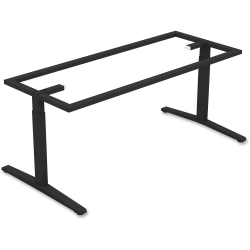 Lorell® Rectangular Conference T-Leg Table Base, For 8'W Top, Black