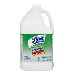 Lysol® Disinfectant Pine Action Cleaner Concentrate, Pine Scent, 1 Gallon, Pack Of 4 Bottles