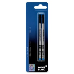 Montblanc® Refills, Rollerball, Medium Point, Blue, Pack Of 2
