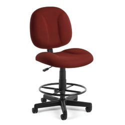 OFM Comfort Series Superchair Task Chair With Drafting Kit, Wine/Black, 105-DK-803