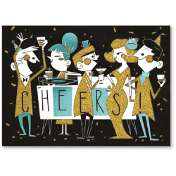 """Viabella Birthday Greeting Card With Envelope, Cheers, 5"""" x 7"""""""