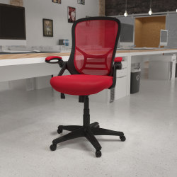Flash Furniture Ergonomic Mesh High-Back Office Chair, Red