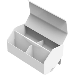 "Bostitch Konnect Wide Storage Cup - 2 Divider(s) - 3.5"" Height x 3.5"" Width7.9"" Length - Desktop - White - 1Each"