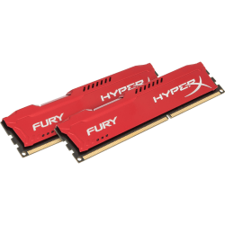 Kingston HyperX Fury 8GB DDR3 SDRAM Memory Module - For Desktop PC - 8 GB (2 x 4 GB) - DDR3-1600/PC3-12800 DDR3 SDRAM - CL10 - 1.50 V - Non-ECC - Unbuffered - 240-pin - DIMM