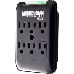 Minuteman SlimLine MMS660S 6-Outlets Surge Suppressor - 6 x AC Power - 1800 VA - 540 J - 120 V AC Input - 120 V AC Output