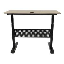 """Boss 48""""W Height-Adjustable Desk, Driftwood"""