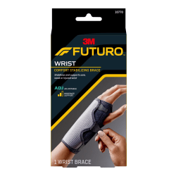 "FUTURO Reversible Splint Wrist Brace - Adjustable, Comfortable, Hook & Loop Closure, Breathable, Latex-free, Reversible - 5.5"" - Black"