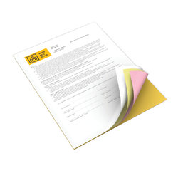 "Xerox® Revolution™ Premium Digital Carbonless Paper, 4-Part Straight, Letter Size (8 1/2"" x 11"")/Canary/Pink/Goldenrod, Case Of 1,250 Sets"