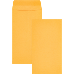 "Business Source Little Coin No. 7 Kraft Envelopes - Coin - #7 - 3 1/2"" Width x 6 1/2"" Length - 28 lb - Gummed - Kraft - 500 / Box - Brown Kraft"