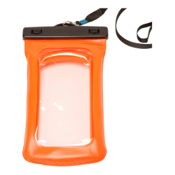 Geckobrands Universal Floatable Waterproof Phone Bag, Orange, GWP-20793OR