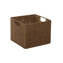 Honey-Can-Do Paper Rope Storage Crate, Medium Size, Brown