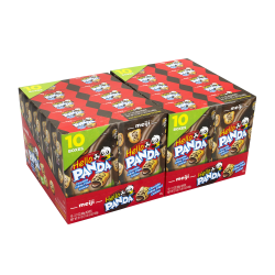 Meiji Hello Panda Chocolate-Crème Filled Cookies, 2.1 Oz, 10 Boxes Per Pack, Case Of 2 Packs