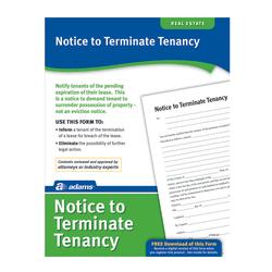 Adams® Notice To Terminate Tenancy