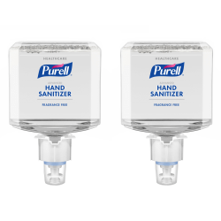Purell® Healthcare Advanced Hand Sanitizer Gentle & Free Foam Refills, For ES4 Push-Style Dispensers, Fragrance Free, 40.6 Oz, Case Of 2 Refills