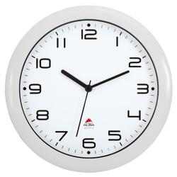 "Alba Silent Round Wall Clock, 12"" Diameter, White"