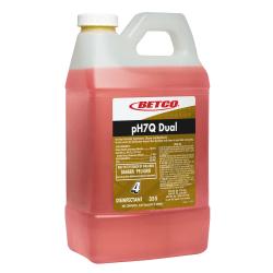 Betco® pH7Q Fastdraw Dual Neutral Disinfectant Cleaner, Pleasant Lemon Scent, 72 Oz Bottle, Case Of 4