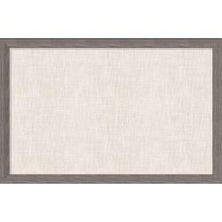 "U Brands Linen Bulletin Board, 36"" X 24"", Brown Rustic MDF Decor Frame"