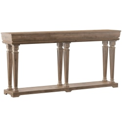 """Powell Crombie Console Table, 34-1/2""""H x 72""""W x 14""""D, Weathered Driftwood"""
