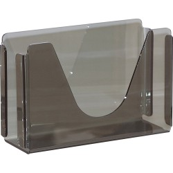 "Georgia-Pacific Vista C-Fold Towel Dispenser - C Fold, Multifold Dispenser - 7"" Height x 11"" Width x 4.4"" Depth - Plastic - Translucent Smoke - Durable, Washable"