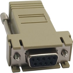 Tripp Lite Modular Serial Crossover Adapter Ethernet to Console Server RJ45-F/DB9-F - 1 x DB-9 Female Serial - 1 x RJ-45 Female Network - Beige