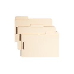 Smead® SuperTab® Manila Fastener Folder, Legal Size, Box of 50