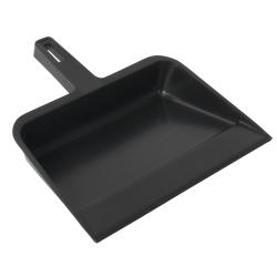 "Continental Industrial Dust Pan, 12 1/4"", Black"