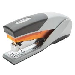 Swingline® Optima® 25 Reduced Effort Stapler, 25 Sheets Capacity, Orange/Gray