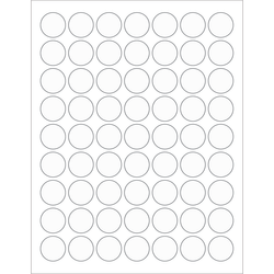 A4 Laser Clear Poly Sheets63mm Round Circle LabelsPolylaser Synthetic PERM