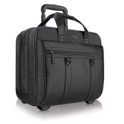 """Solo New York MacDougal Rolling Case with 17.3"""" Laptop Pocket, Black"""