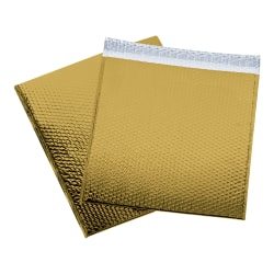 """Office Depot® Brand Glamour Bubble Mailers, 17-1/2""""H x 16""""W x 3/16""""D, Gold, Pack Of 48 Mailers"""