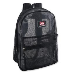 Trailmaker Mesh Backpacks, Black, Set Of 24 Backpacks