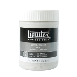 Liquitex Acrylic Texture Gel Mediums, 8 Oz, Ceramic Stucco, Pack Of 2